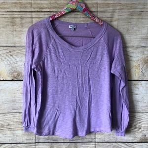 purple splendid long sleeve tee size S // P18